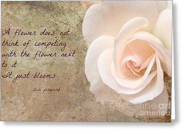 Zen Proverb 4 Greeting Card