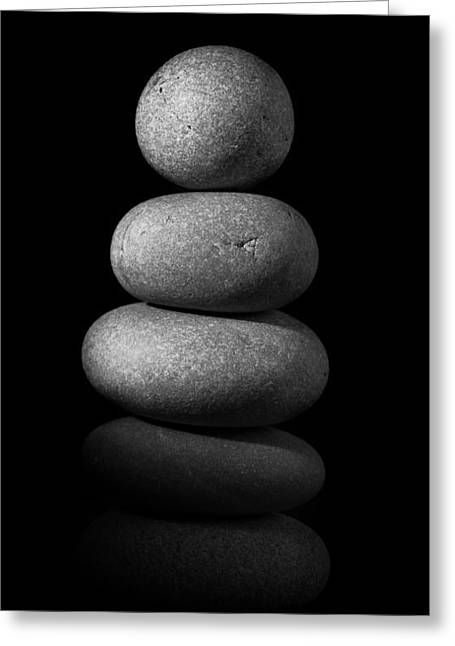 Zen Stones In The Dark II Greeting Card by Marco Oliveira
