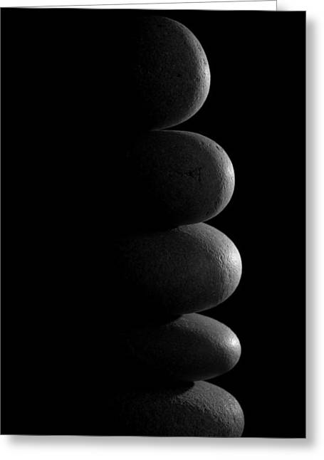 Zen Stones In The Dark Greeting Card