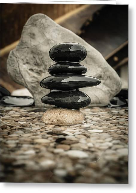 Zen Stones V Greeting Card