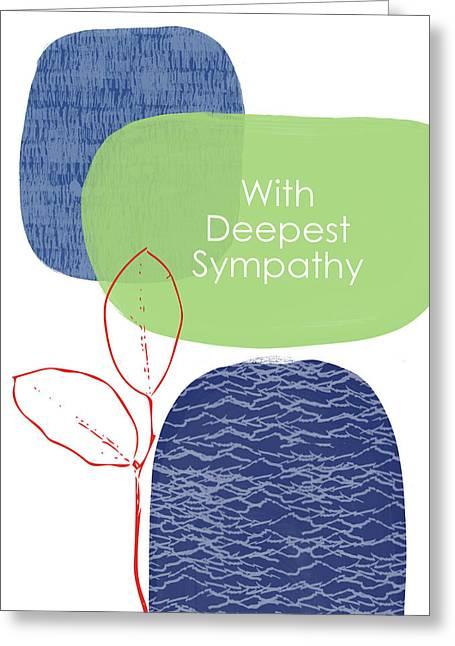 Zen Sympathy Card- Art By Linda Woods Greeting Card by Linda Woods
