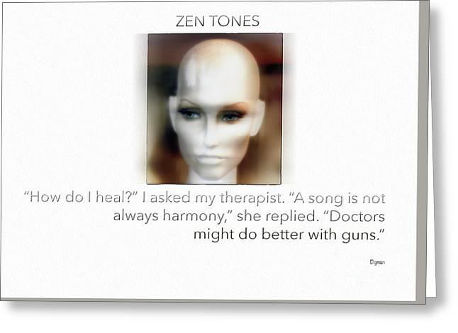 Zen Tones  Greeting Card by Steven Digman