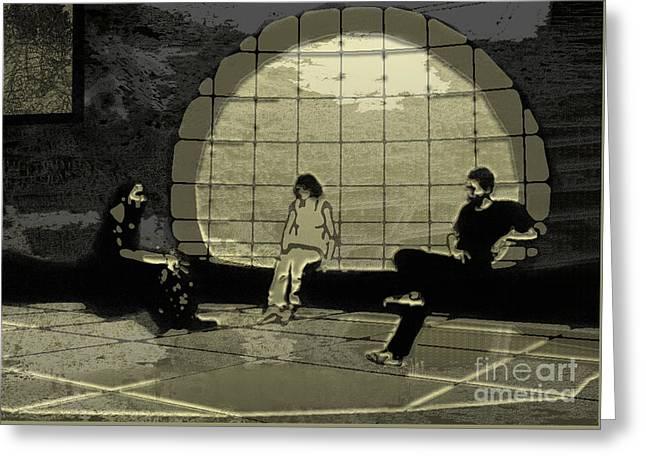 Zen Waiting Room Greeting Card by Lance Sheridan-Peel