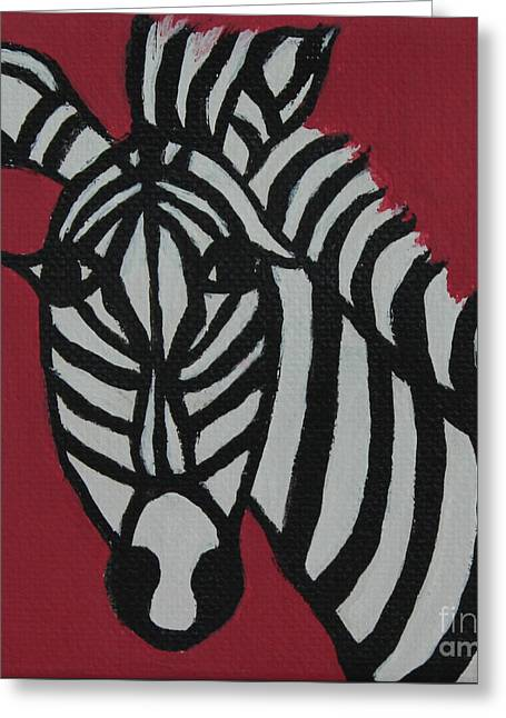 Zena Zebra Greeting Card