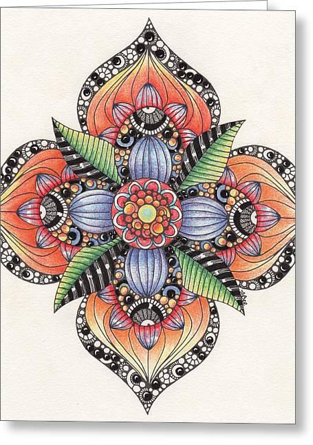 Zendala Template #1 Greeting Card