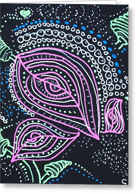 Zentangle Flower Greeting Card