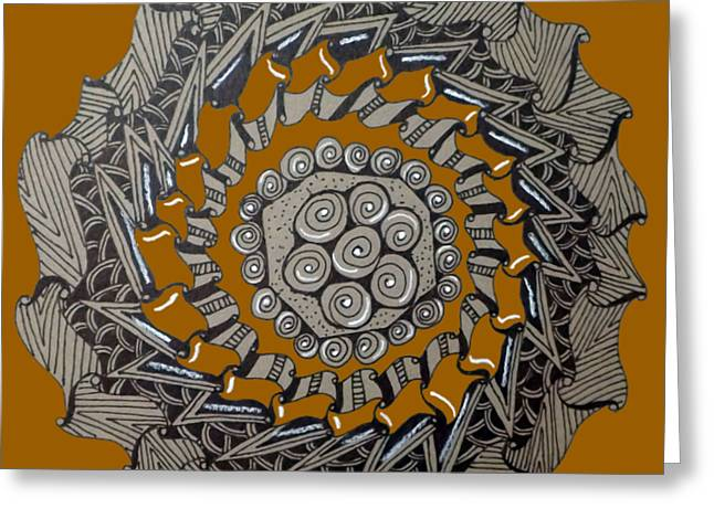 Zentangle Shield  Greeting Card