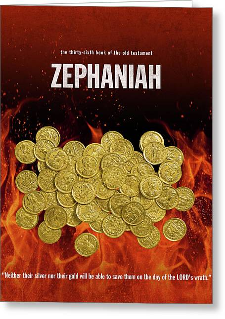 Zephaniah Books Of The Bible Series Old Testament Minimal Poster Art Number 36 Greeting Card by Design Turnpike
