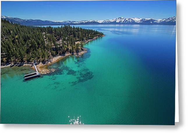 Greeting Card featuring the photograph Zephyr Point Aerial by Brad Scott