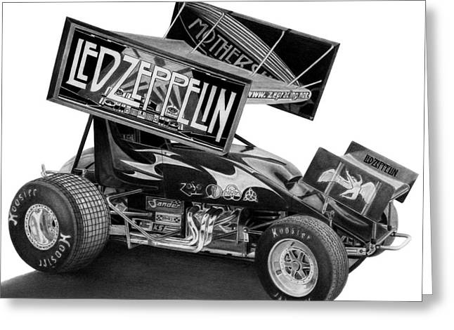 Zeppelin Sprinter Greeting Card by Lyle Brown