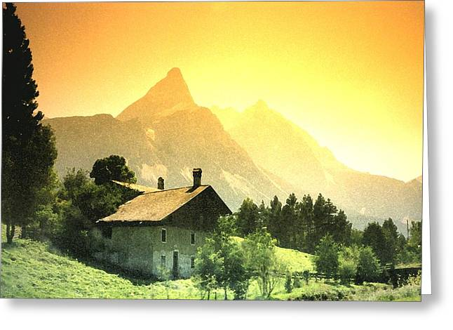 Zermatt Sunset   William Kaluta Artist Greeting Card