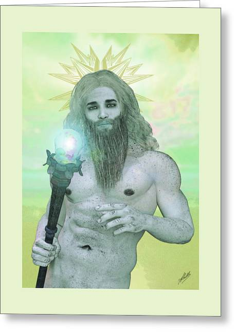 Zeus King Of The Gods Greeting Card