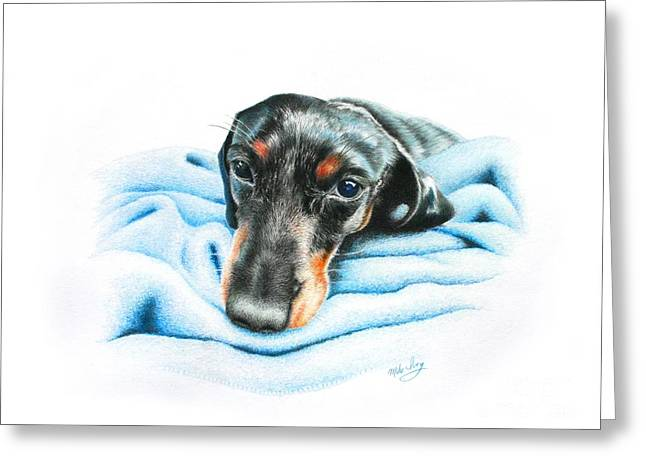 Zeus Greeting Card by Mike Ivey