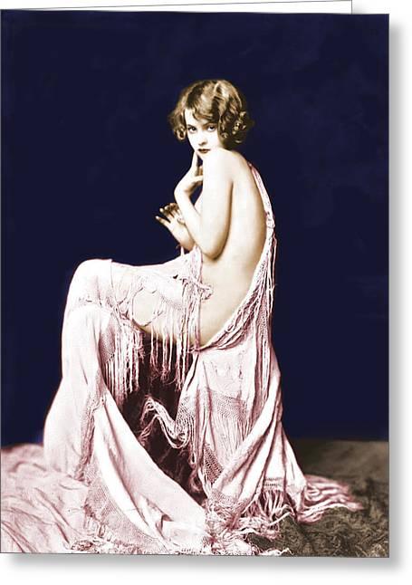 Ziegfeld Girl Anna Buckley Circa 1925 Greeting Card by Rosie Mills