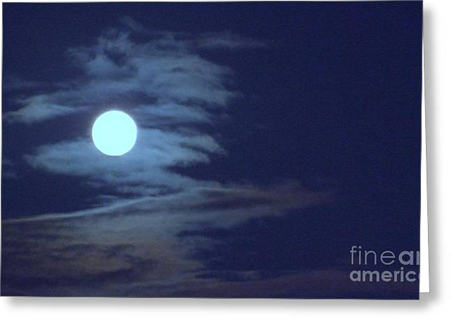Zig Zag Moon Greeting Card by Mary Deal
