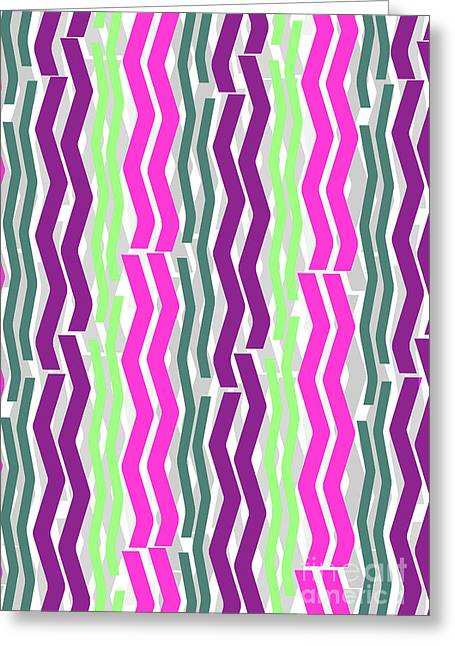 Zig Zig Stripes Greeting Card by Louisa Knight
