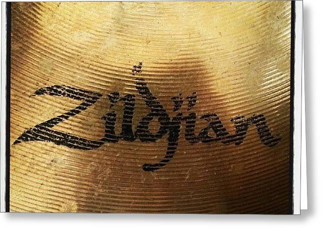 #zildjian #drums #drummer #cymbal Greeting Card by Bradley Whitehead