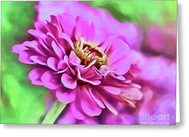 Zinnia Art 2 Greeting Card