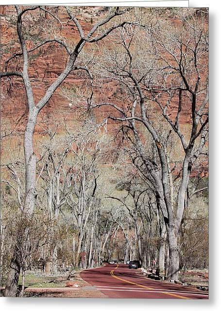 Zion At Kayenta Trail Greeting Card by Viktor Savchenko