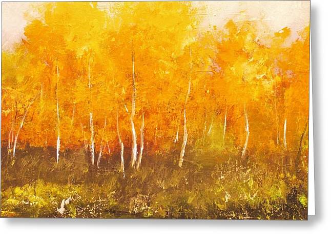 Zion Autumn Greeting Card by Anahid Minatsaghanian