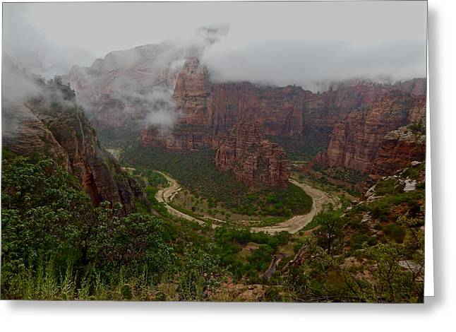 Zion Canyon Greeting Card