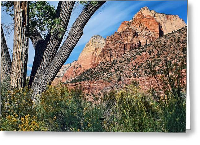 Zion Canyon - Pa'rus Trail Greeting Card by Nikolyn McDonald