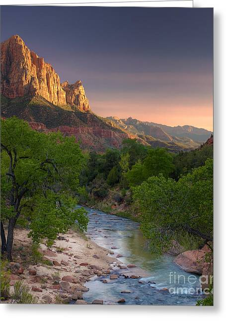 Zion Canyon Sunset Greeting Card