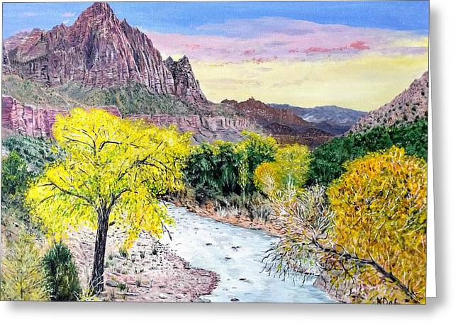 Zion Creek Greeting Card