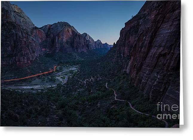 Zion Evening Commute Greeting Card by JR Photography