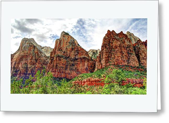Zion N P # 41 - Court Of The Patriarchs Greeting Card