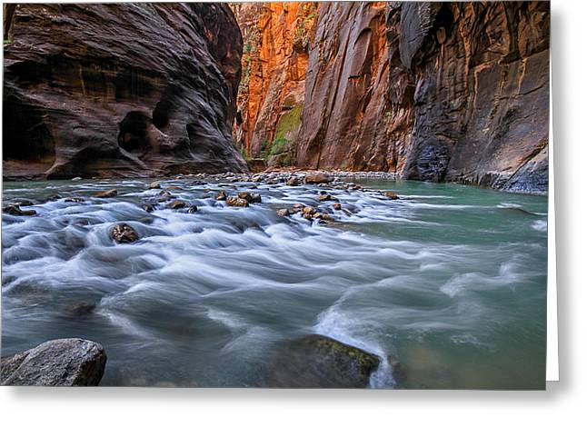 Zion Narrows Greeting Card