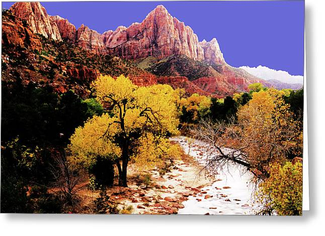 Greeting Card featuring the photograph Zion's Watchman by Norman Hall