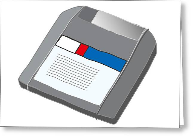 Zip Disk Greeting Card