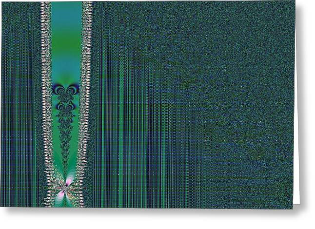 Zipper With Tattoo Greeting Card by Thomas Smith