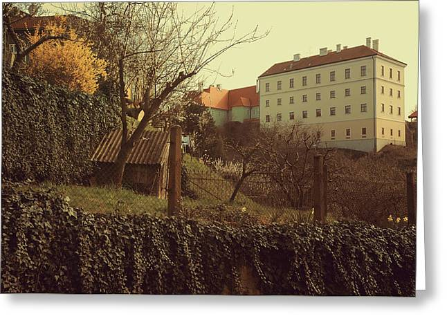 Znojmo Castle Greeting Card by Jenny Rainbow