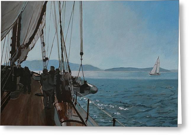 Zodiac Under Sail Greeting Card by Robert Bissett