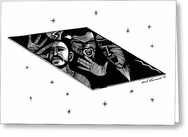 Zod's Fate  Greeting Card by Raul Samano