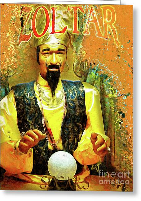Zoltar Speaks Fortune Teller 20161108 Greeting Card by Wingsdomain Art and Photography