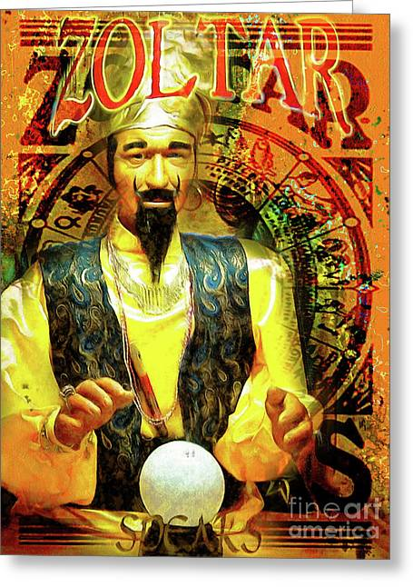 Zoltar Speaks Fortune Teller 20161108v3 Greeting Card by Wingsdomain Art and Photography