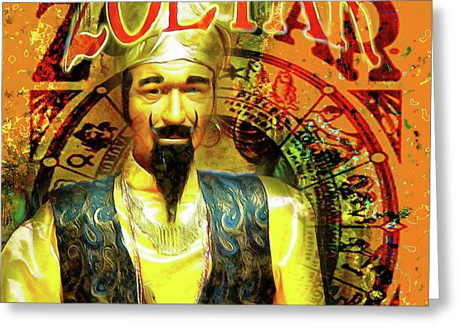 Zoltar Speaks Fortune Teller 20161108v3sq Greeting Card by Wingsdomain Art and Photography