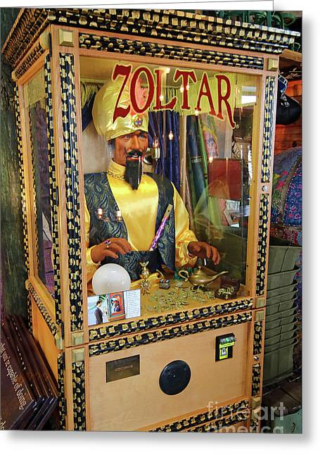 Zoltar Greeting Card by Steve Gass