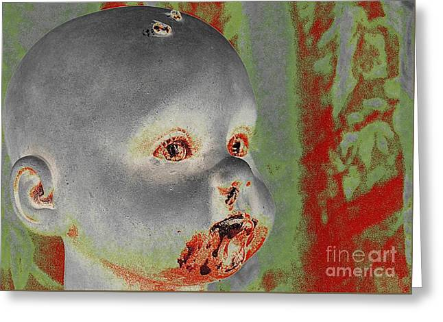 Zombie Baby Greeting Card