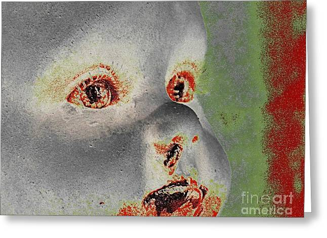 Zombie Baby Four Greeting Card