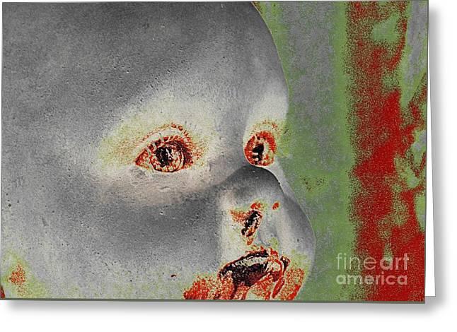 Zombie Baby Three Greeting Card