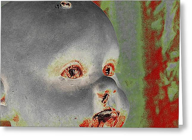 Zombie Baby Two Greeting Card