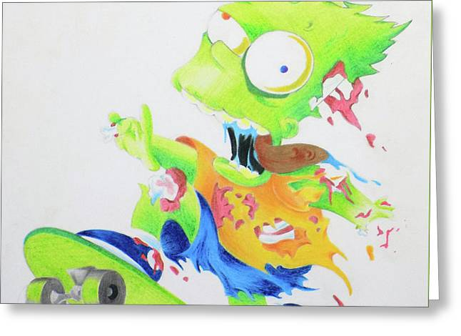 Zombie Bart Simpson Greeting Card