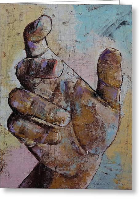 Zombie Hand Greeting Card by Michael Creese