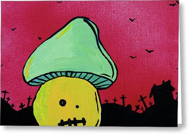 Zombie Mushroom 2 Greeting Card by Jera Sky