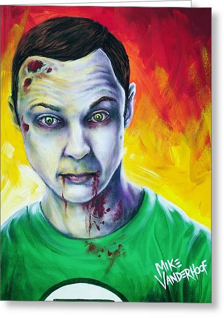 Zombie Sheldon Cooper Greeting Card