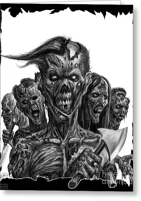 Zombies  Greeting Card by Tony Koehl